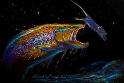 Salmon Drawing - Mouse Trap  by Yusniel Santos