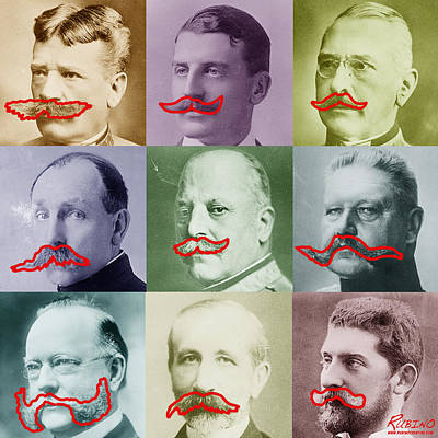 Old Objects Painting - Moustaches by Tony Rubino