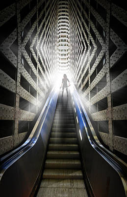 Move Into The Light Print by Nathan Wright