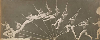 Realistic Photograph - Movements In Pole Vaulting by Etienne-Jules Marey