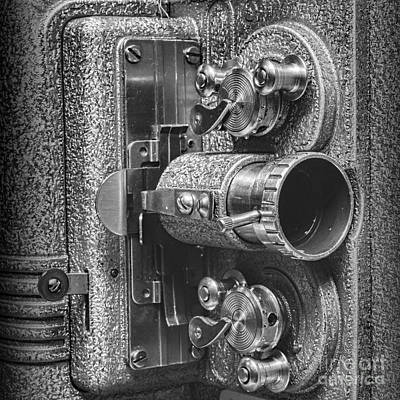 8mm Photograph - Movie Projector In 8mm Square by Paul Ward