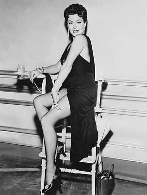 Movie Star Lana Turner Print by Underwood Archives