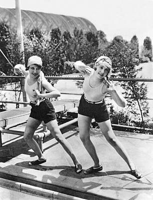 1920s Fashion Photograph - Movie Stars Exercising by Underwood Archives