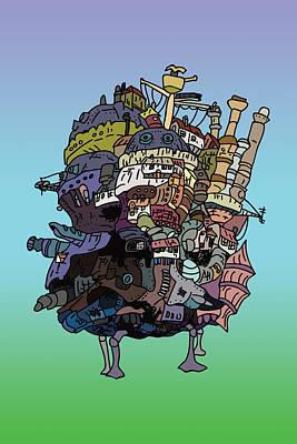 Fandom Digital Art - Moving Castle by Jera Sky