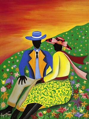 African American. Folk Art Painting - Moving Forward by Patricia Sabree