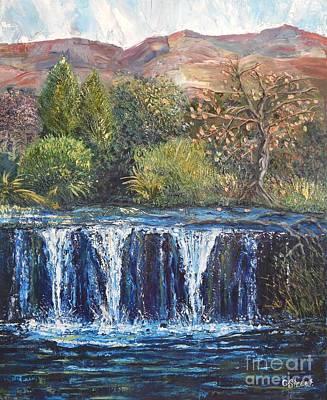 Carolinestreet Painting - Moving Landscape by Caroline Street