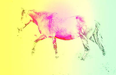 The Moving Spirit Within A Horse  Print by Hilde Widerberg