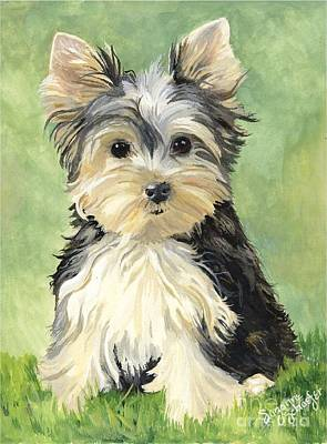Yorkshire Terrier Art Painting - Moxie Roxie by Suzanne Schaefer