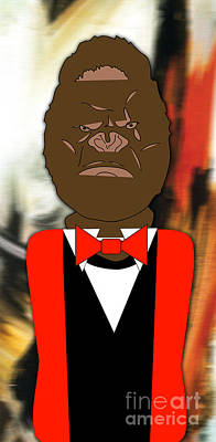 Gorilla Mixed Media - Mr Ape by Marvin Blaine