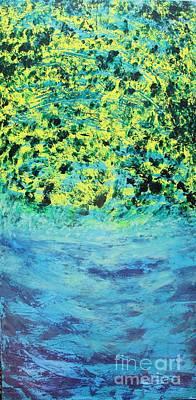 Water Filter Painting - Mr. Bluebird by Elizabeth Anne Hamilton