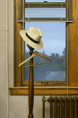 Coat Rack Photograph - Mr. Daly's Hat by Nikolyn McDonald