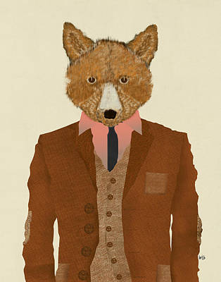 Colourfull Painting - Mr Fox by Bri B