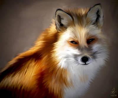 Red Fox Painting - Mr. Fox by Pennie  McCracken