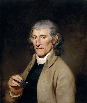 Realistic Photograph - Mr. Francis Bailey, 1791 Oil On Canvas Pair To 403022 by Charles Willson Peale