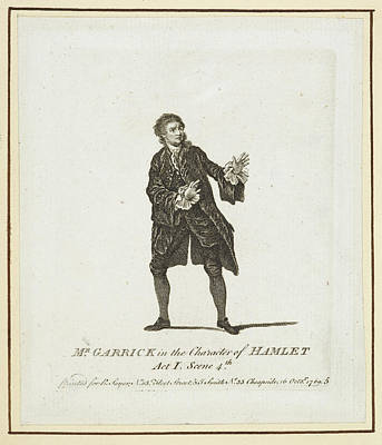 Actor Photograph - Mr Garrick In The Character Of Hamlet by British Library