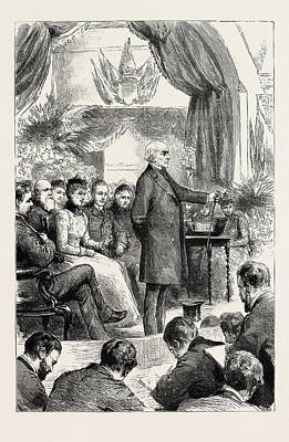 Mr. Gladstone Opening A New Hall At Port Sunlight Print by English School