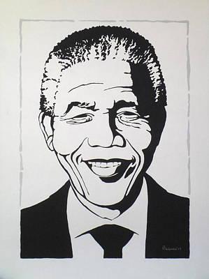 Imprisonment Painting - Mr. Mandela by Arthur Benjamins