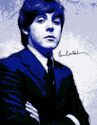 Paul Mccartney Digital Art - Mr. Mccartney II by Gary Bodnar