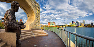 Sewickley Photograph - Mr Rogers Statue In Pittsburgh by Emmanuel Panagiotakis