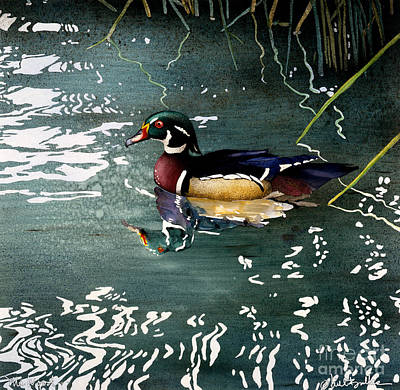 Waterfowl Painting - Mr Wood... by Will Bullas