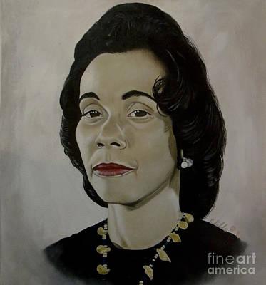 Black History Painting - Mrs. Coretta Scott King by Chelle Brantley