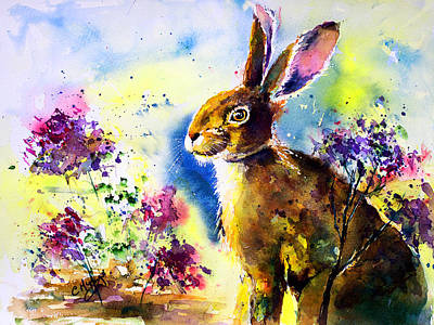 Hares Painting - Mrs Harebells by Carrie McKenzie