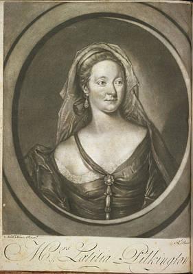 Mrs Latitia Pilkington Print by British Library