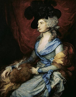 Mrs Sarah Siddons, The Actress 1755-1831, 1785 Oil On Canvas Print by Thomas Gainsborough