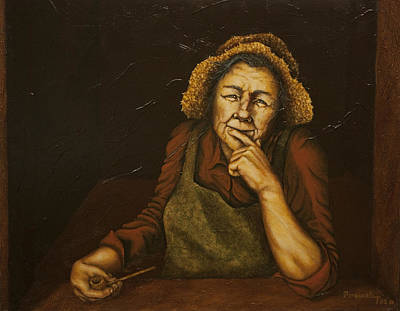 Character Studies Painting - Mrs. Zackaharia by C Michael French