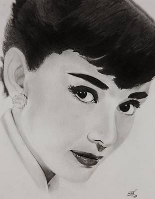 Breakfast Drawing - Ms Hepburn by Brian Broadway
