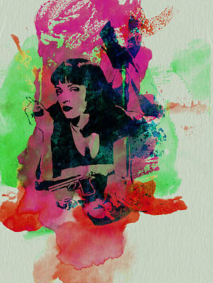Famous Mixed Media - Ms Wallace by Naxart Studio