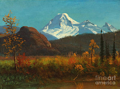 American Eagle Painting - Mt Baker From The Fraser River  by Celestial Images
