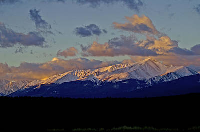 Mt Elbert Sunrise Print by Jeremy Rhoades