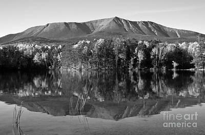 Mt Katahdin Black And White Print by Glenn Gordon