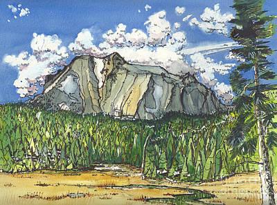 Lassen Painting - Mt Lassen by Terry Banderas