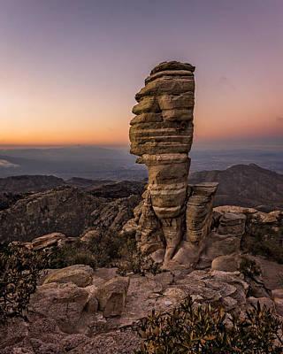 Pinnacle Overlook Photograph - Mt. Lemmon Hoodoo by Chris Bordeleau