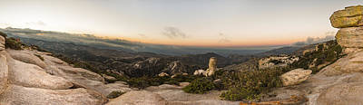 Pinnacle Overlook Photograph - Mt. Lemmon Windy Point Panorama by Chris Bordeleau