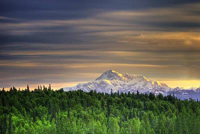 Mt. Mckinley At Dawn Print by Vicki Jauron
