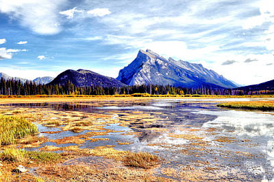 Animal Photograph - Mt Rundle by Laura Strain