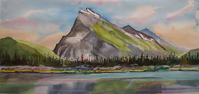 Mt. Rundle Print by Mohamed Hirji