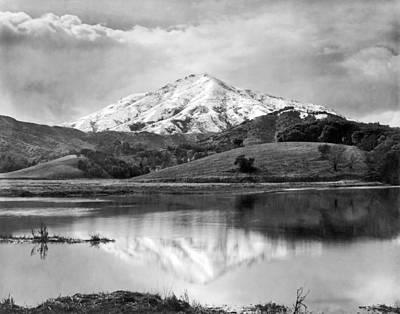 Mt. Tamalpais In Snow Print by Underwood Archives