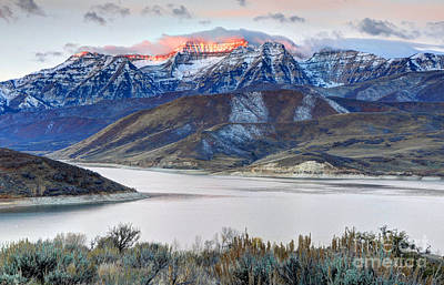 Mt. Timpanogos Winter Sunrise Print by Gary Whitton