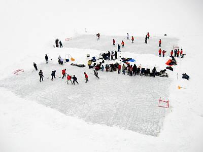 Skating Photograph - Mud Lake Hockey Tournament by Rob Huntley