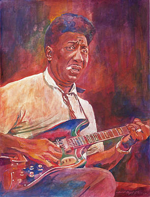 Popular People Painting - Muddy Waters by David Lloyd Glover