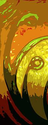 Sweeps Digital Art - Mudlark Panel 1 by Ryan Burton