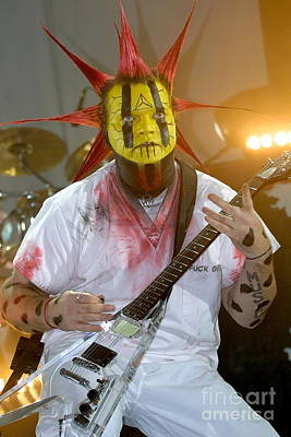 Photograph - Mudvayne Guitarist Greg Tribbett by Concert Photos