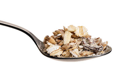 Healthy Eating Photograph - Muesli On A Spoon by Daniel Sambraus