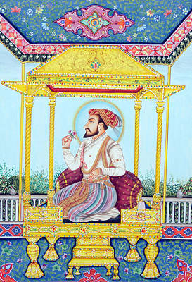 Raja Painting - Shah Jahan by Dinodia