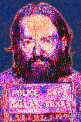 Mugshot Willie Nelson Painterly 20130328 Print by Wingsdomain Art and Photography