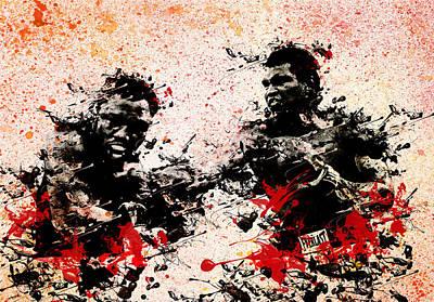 Knockout Painting - Muhammad Ali 2 by Bekim Art